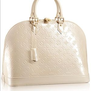Louis Vuitton Monogram Pearl Vernis Alma GM